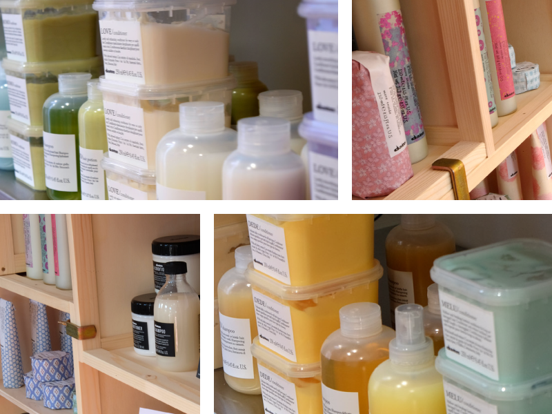 Collage of Davines hair products